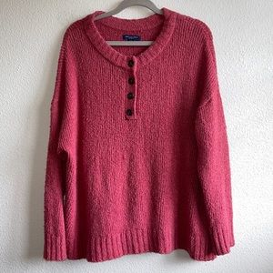 American Eagle Coral Pink Sweater Plus Size